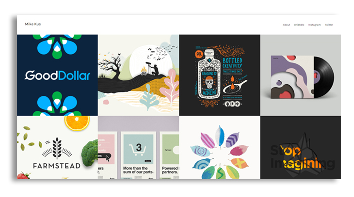 graphic design portfolio preview