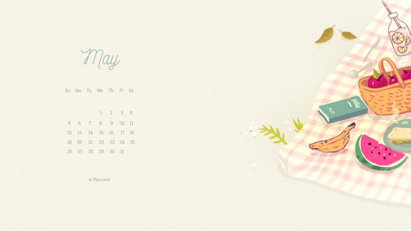 free may 2019 wallpaper calendar