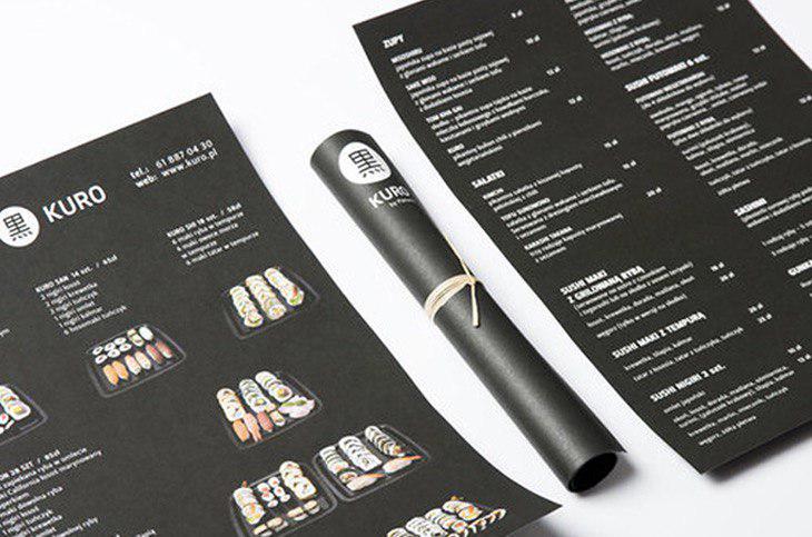 menu example
