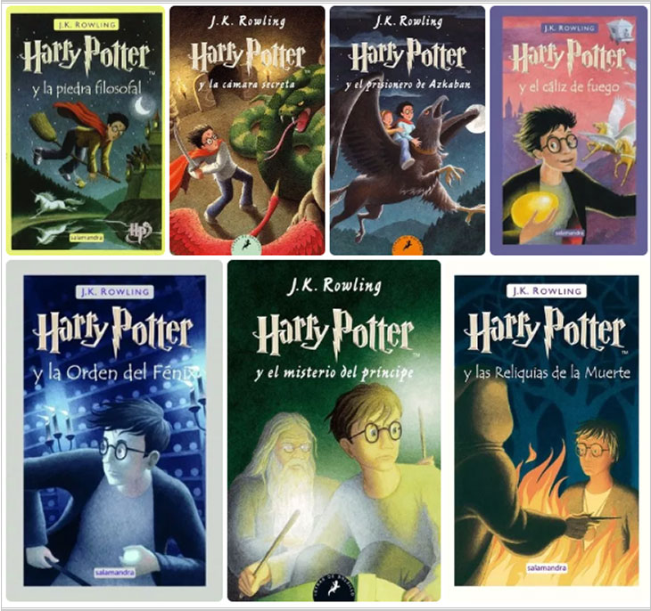 harry potter book covers spain