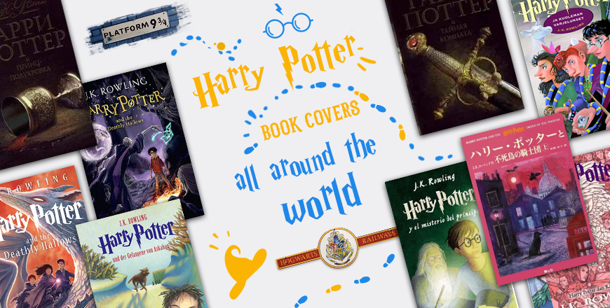 harry potter book covers all around the world