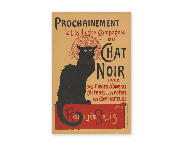 poster design art - le chat noir