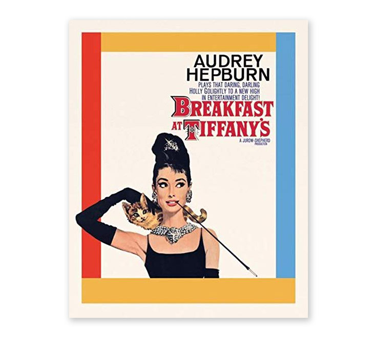 poster design art - breakfast at tiffanys movie poster
