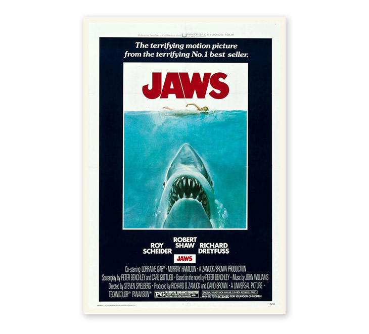 poster design art - jaws movie poster