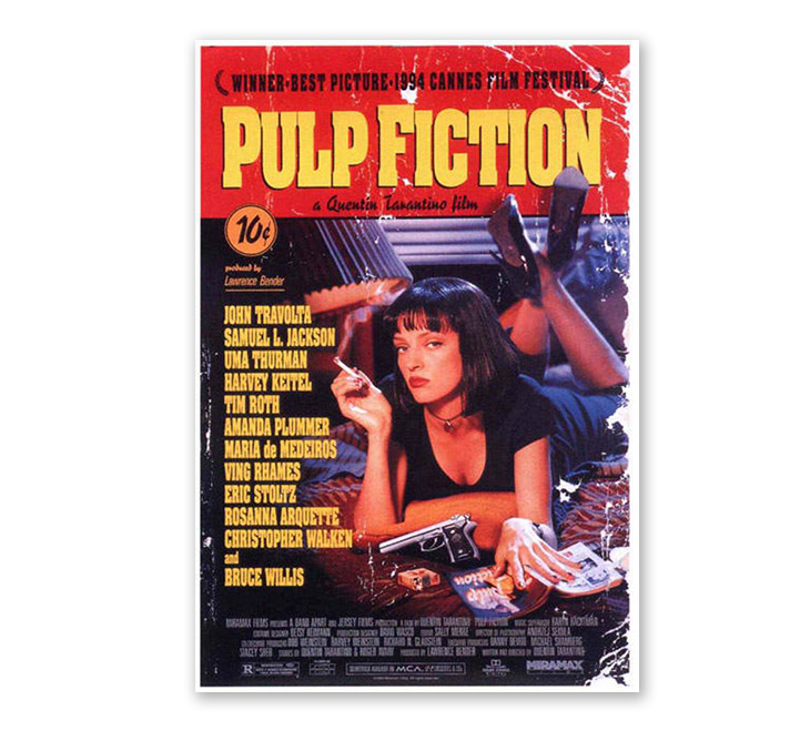 poster design art - pulp fiction poster