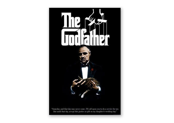 poster design art - the godfather