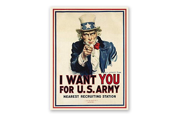 the history of poster design art - uncle sam
