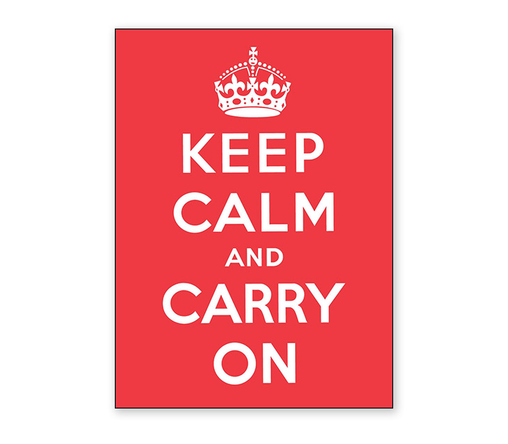 keep calm and carry on poster design