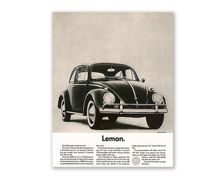 volkswagen poster ad