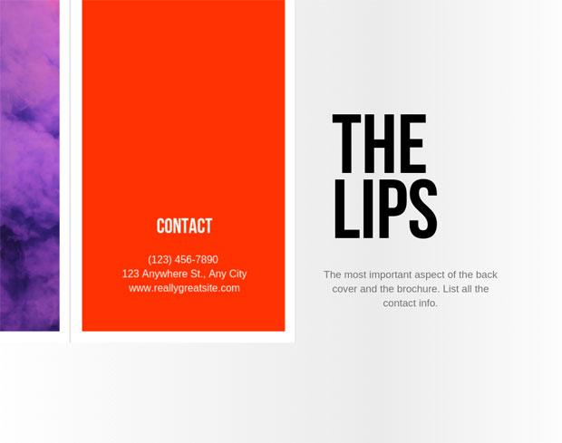 contact info brochure design