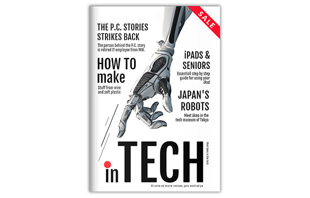 technology magazine template