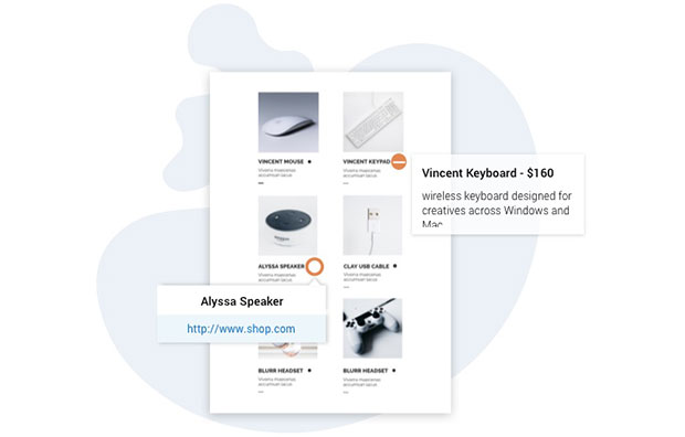 interactive catalogs - product tags