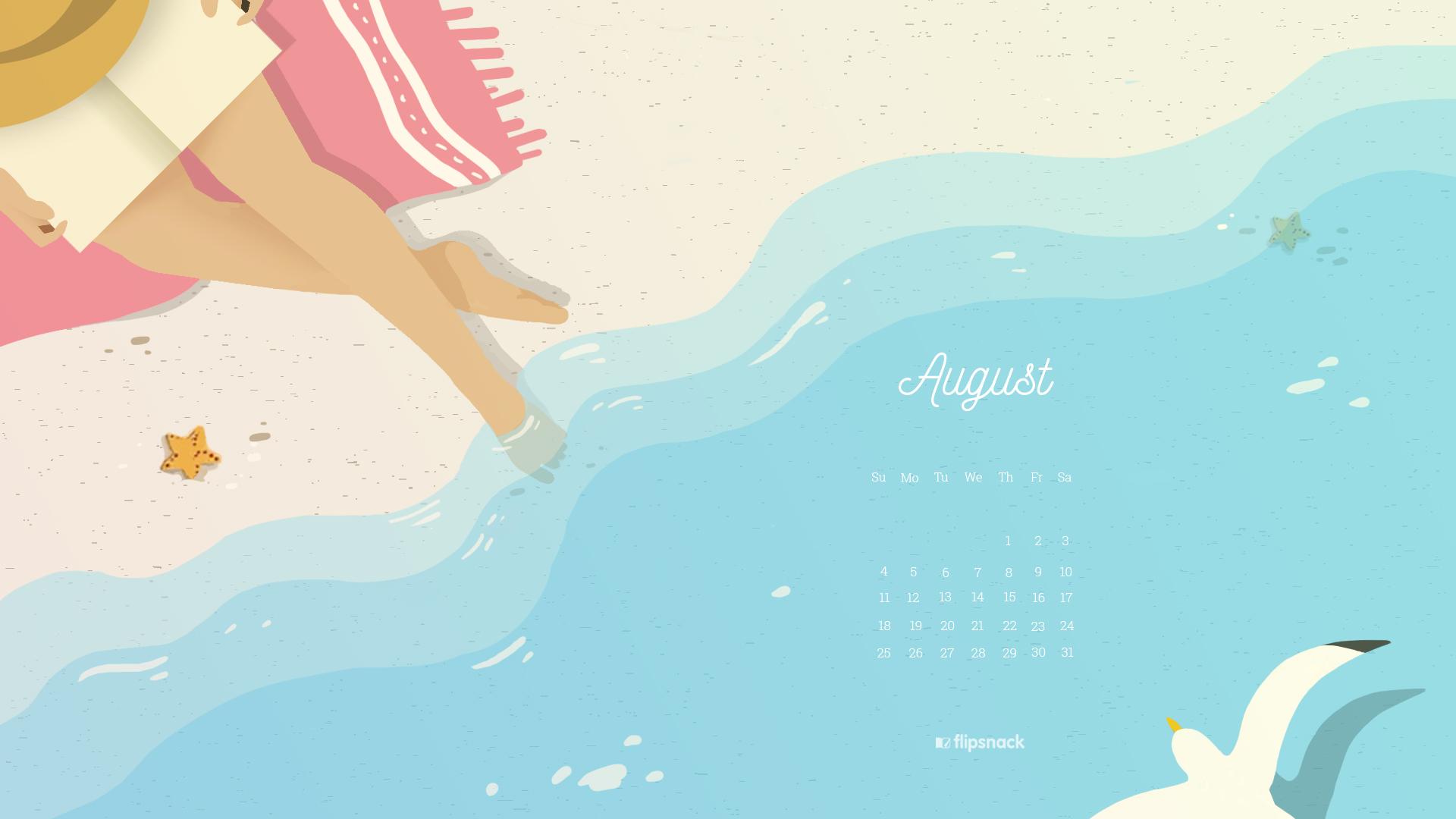free august 2019 wallpaper calendar