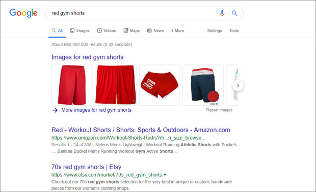 red-gym-shorts-search-result