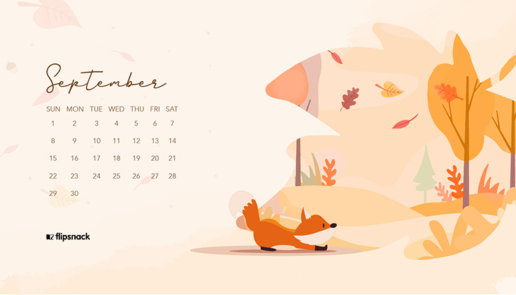 September 2019 free wallpaper calendar