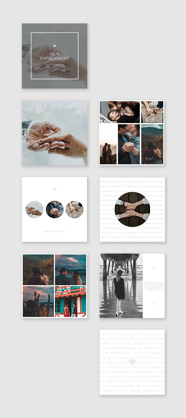 engagement photo album