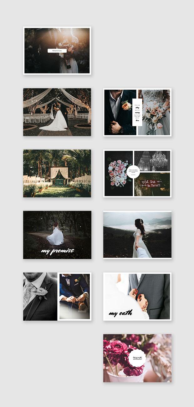 online ceremony wedding album