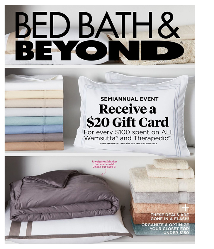 how top 100 us brands use catalogs - bed bath and beyond