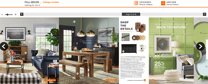 how top 100 us brands use catalogs - home depot