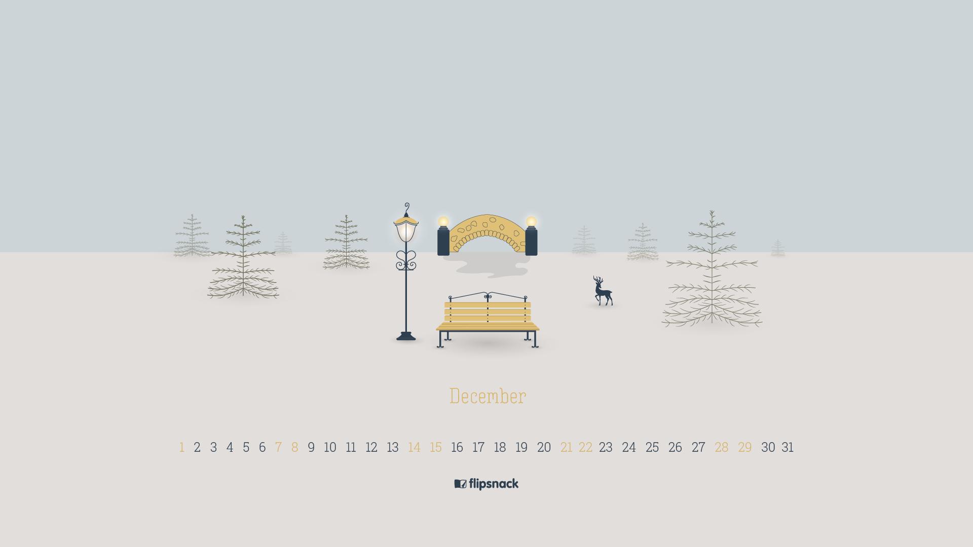 free december 2019 wallpaper calendar