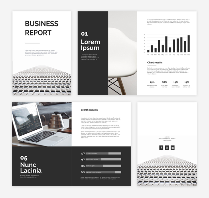black&white business report