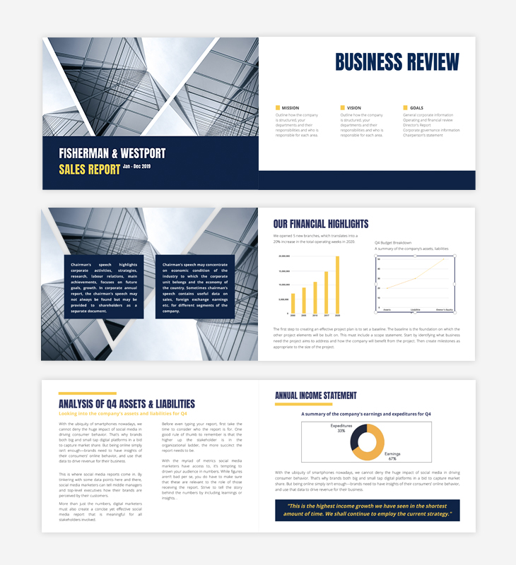 modern sales report example