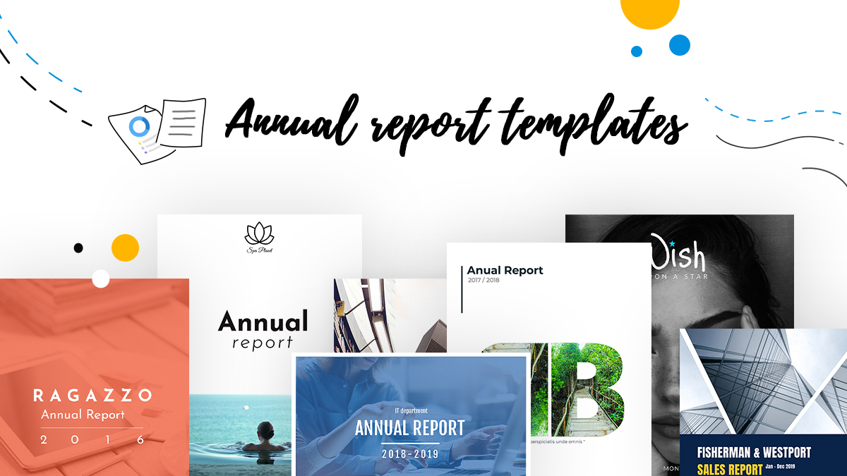 cover anual report templates