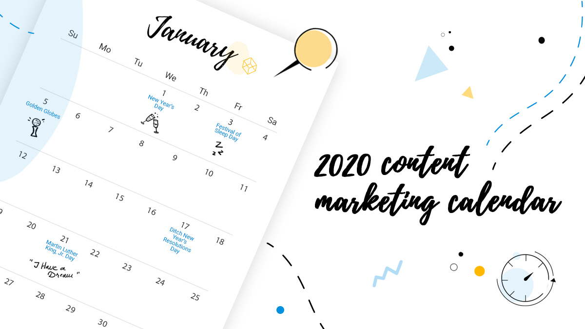2020 content marketing calendar