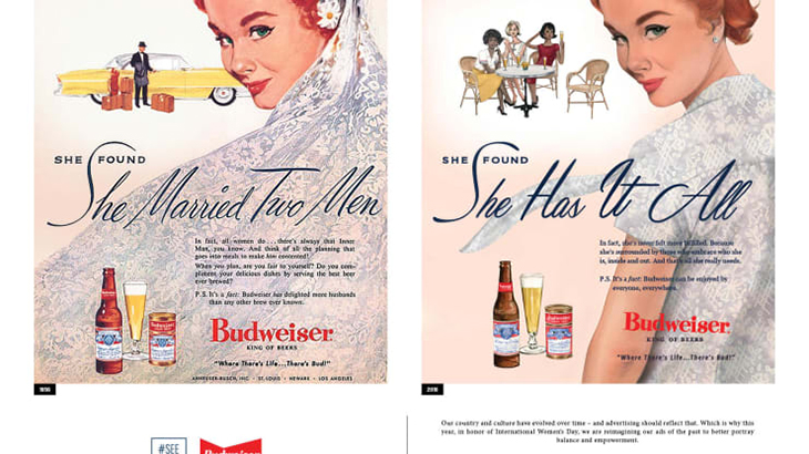 budweiser content marketing campaign for international womens day