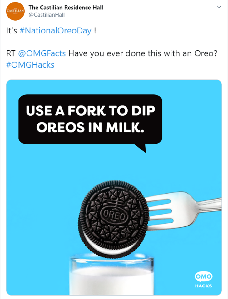 oreo national day content marketing