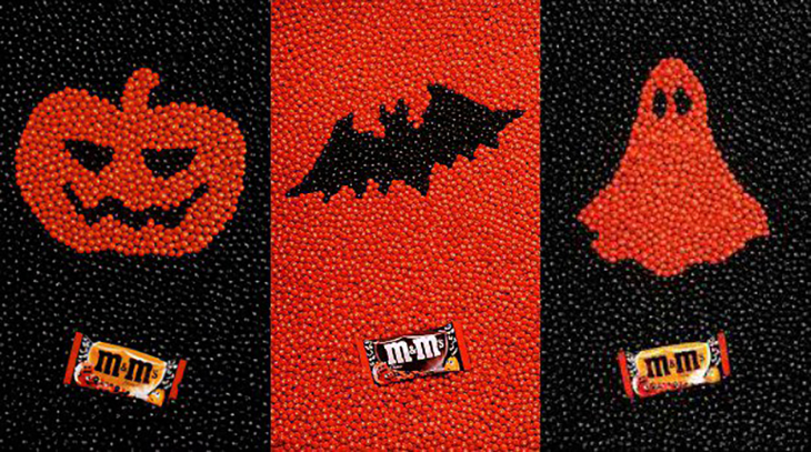 2020 content marketing calendar m&m halloween campaign