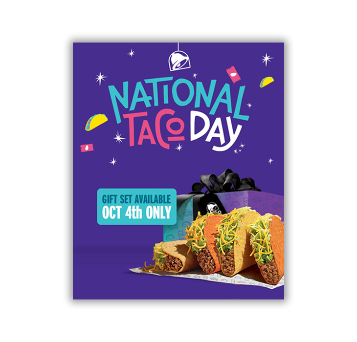 national taco day - 2020 content marketing calendar ideas