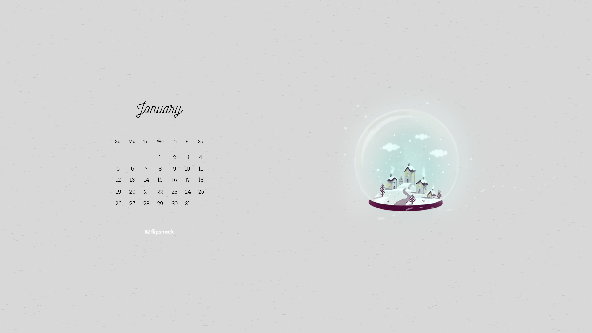 January 2020 wallpaper calendar