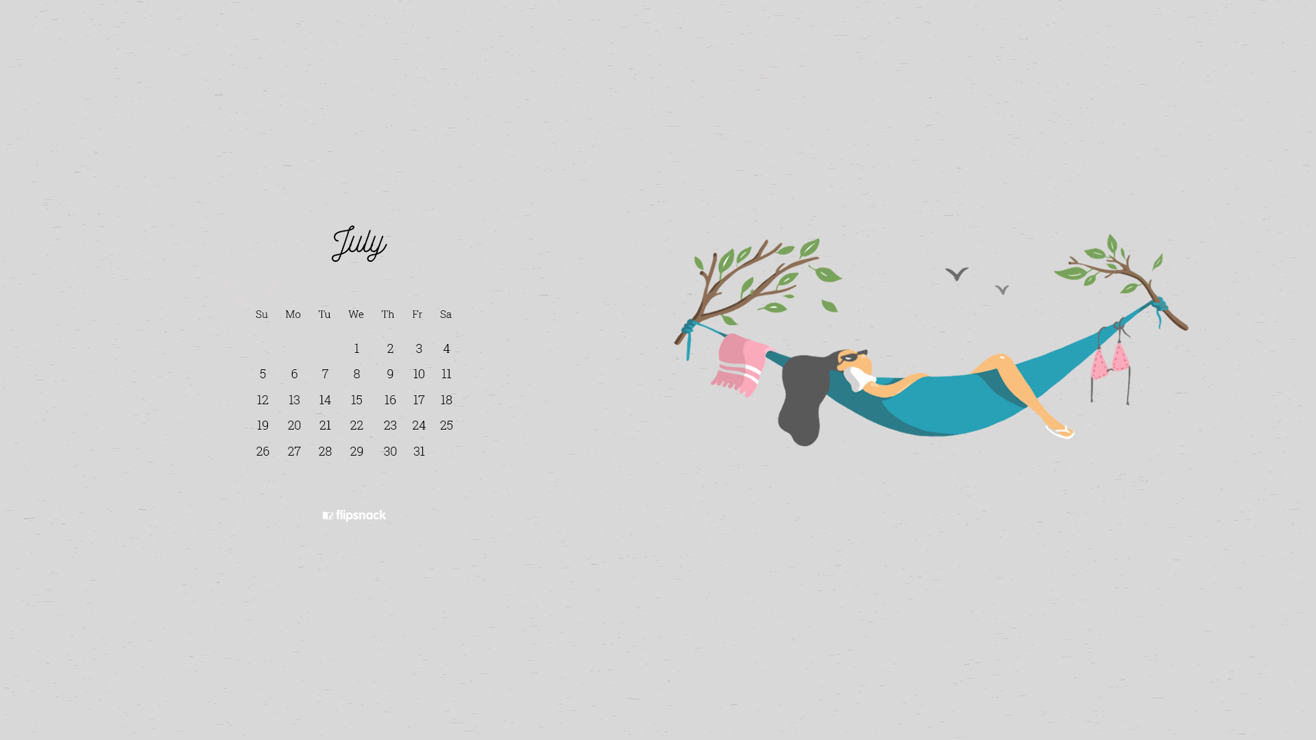 July 2020 wallpaper calendars