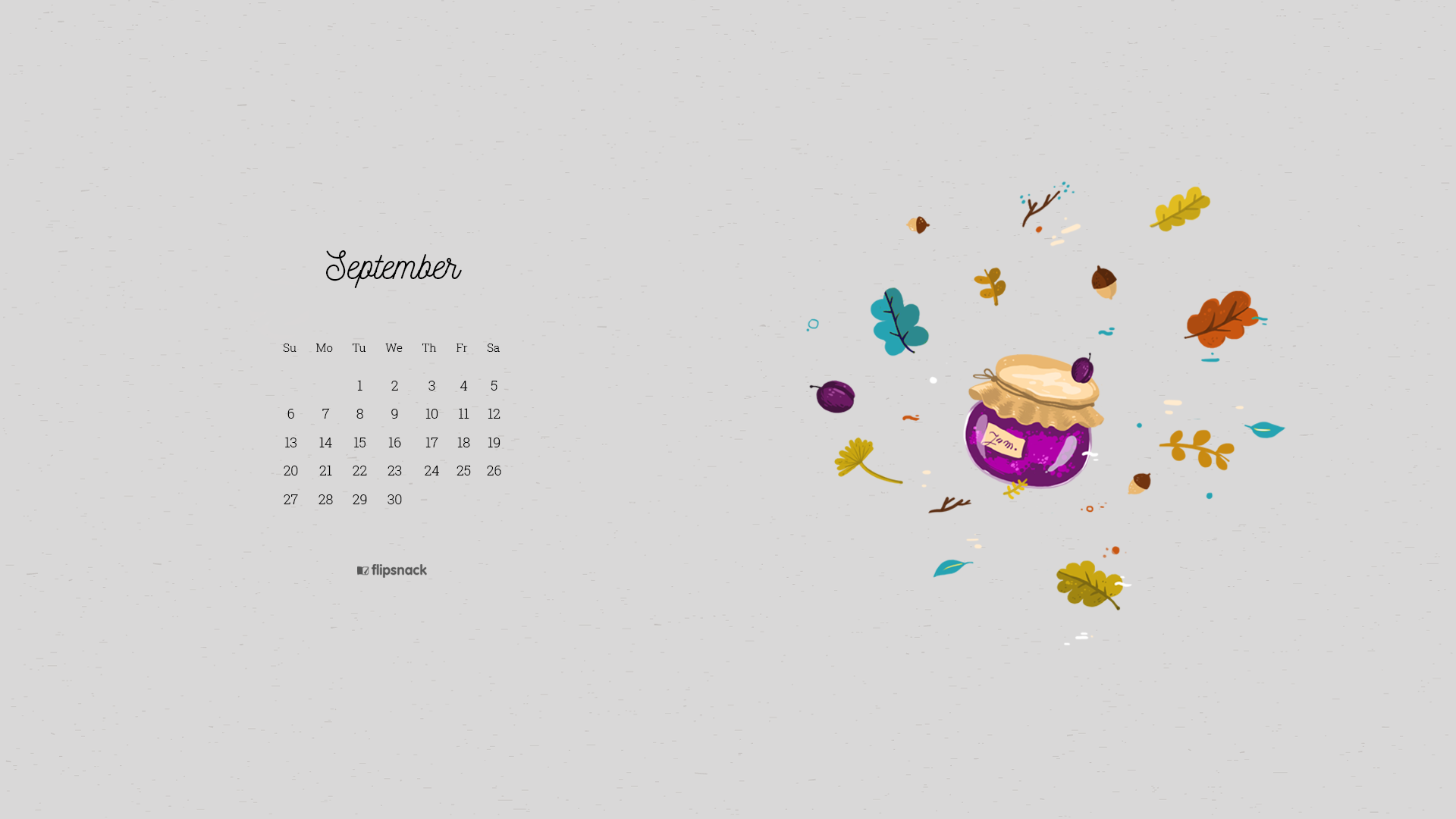 September wallpaper design