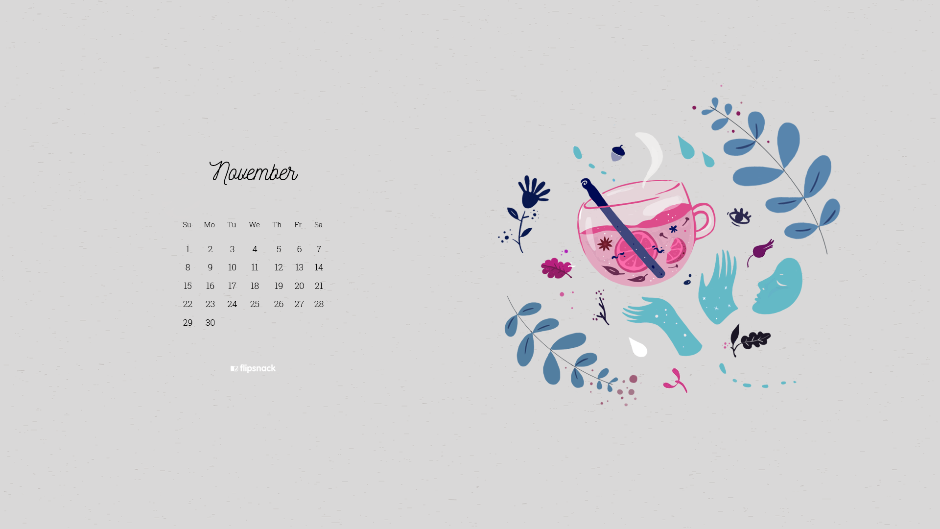 November wallpaper calendars