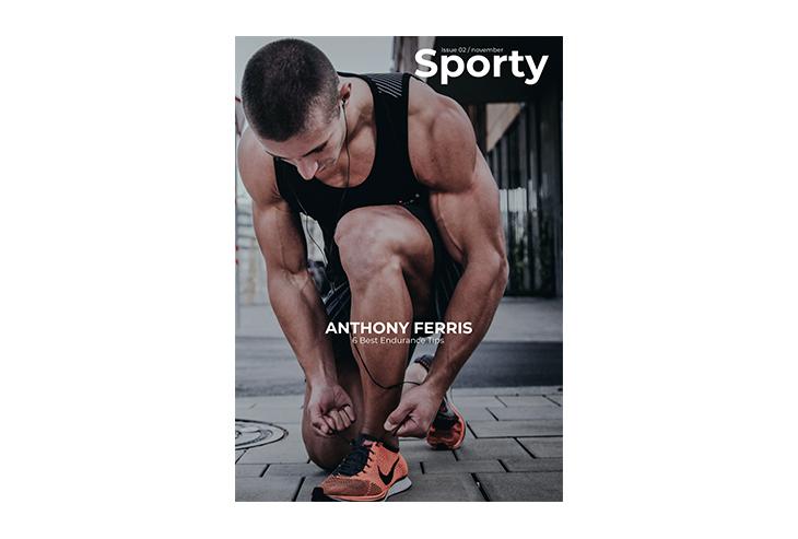 sports magazine template