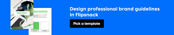 Design brand guidelines in Flipsnack banner