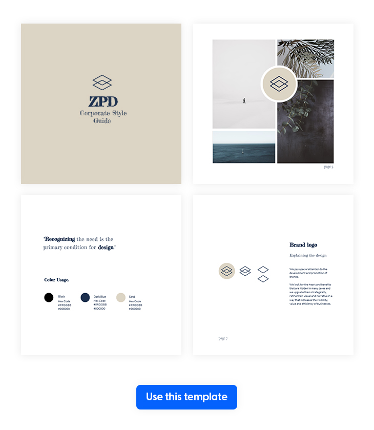 Minimalist Corporate Guide Style Template from Flipsnack