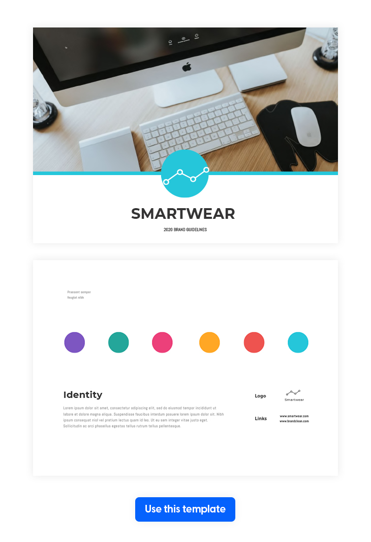 Modern Brand Manual Template from Flipsnack