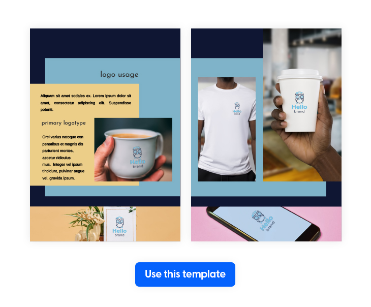 Blue Themed Corporate Style Guide Template from Flipsnack