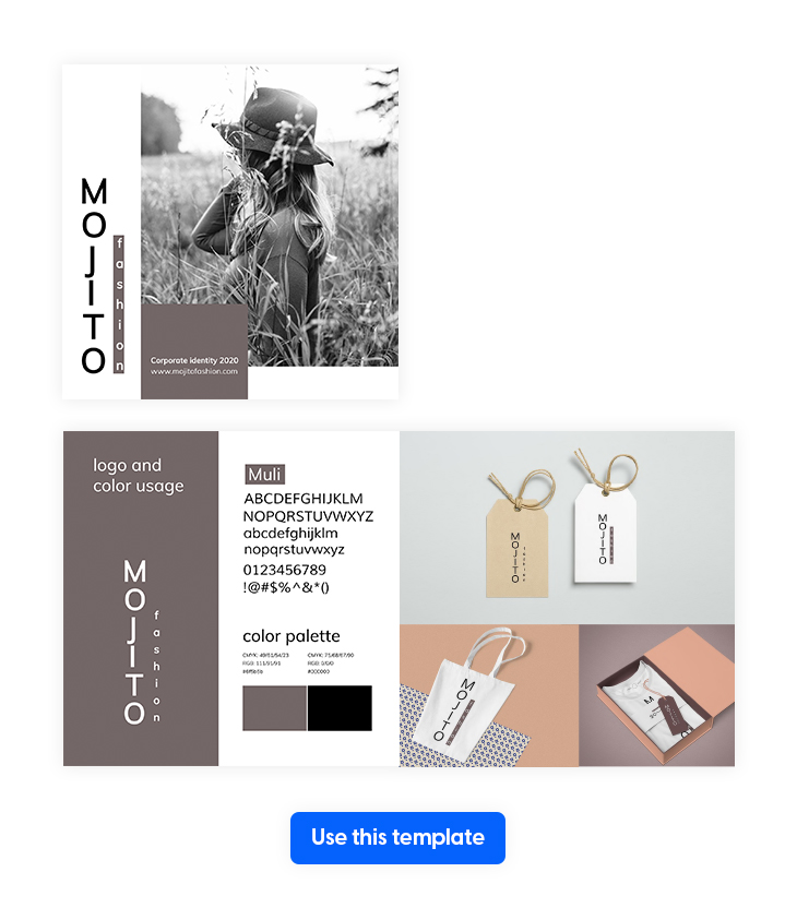 Modern Corporate Identity Manual Template from Flipsnack