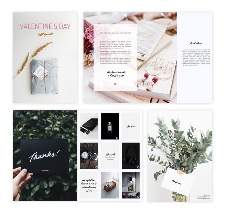Valentine's Day gift guide template