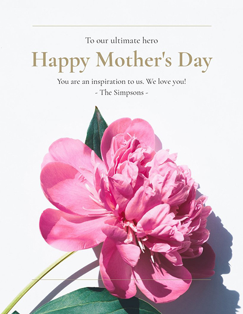 Modern Mother's Day card template
