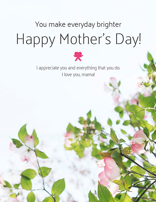 Simple Mother's Day card template