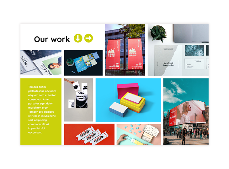 catalog double page design template