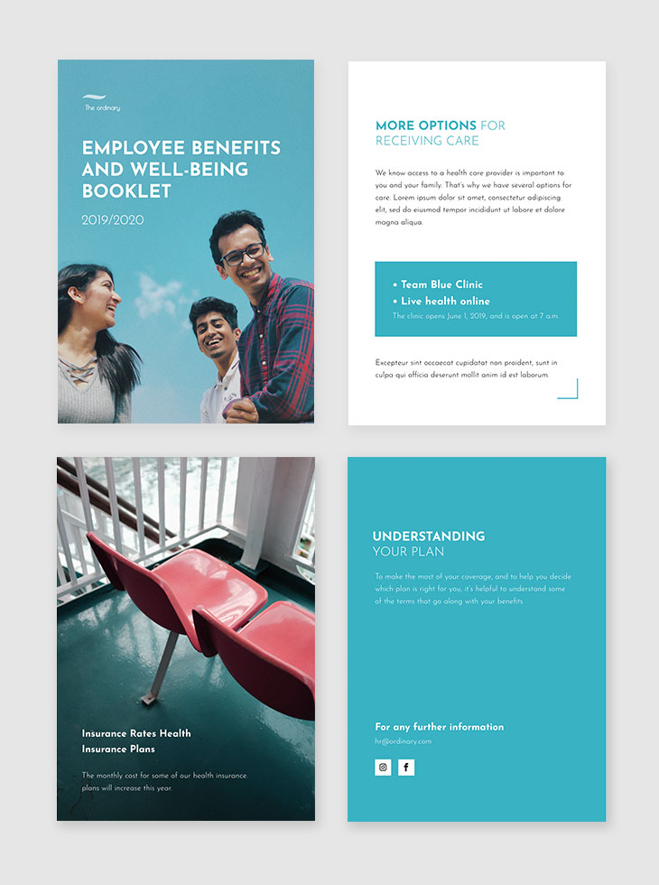 Employee Benefits & Well-Being Booklet Template