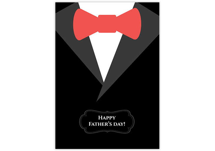 father's day card tie