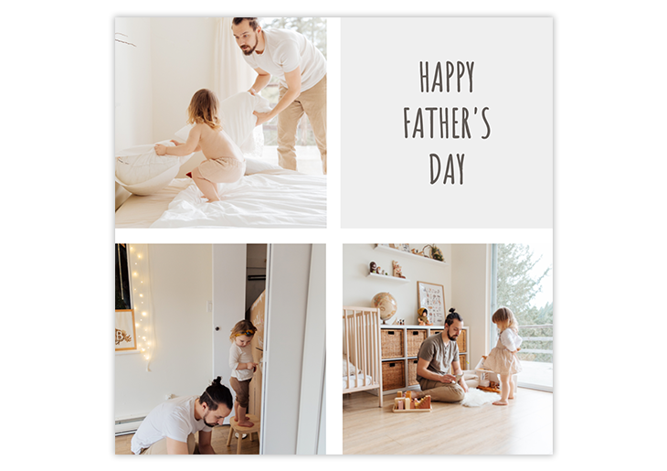 editable photo father's day card
