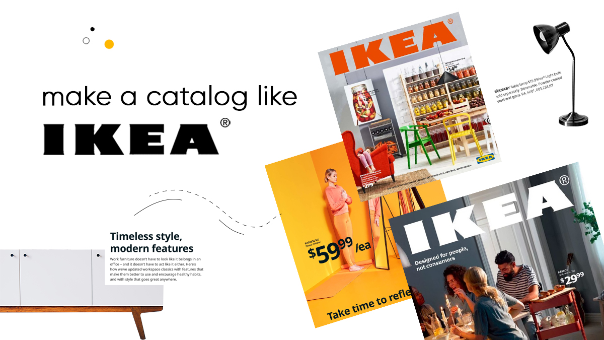 How to make a catalog like IKEA cover
